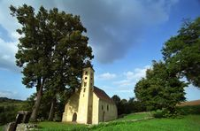 Small Village Church Stock Photography