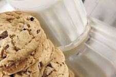Free Chocolate Chip Cookies And Milk Royalty Free Stock Photo - 4204835