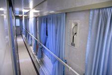 Free Train Interior - Empty Passageway Royalty Free Stock Image - 4206106