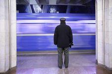 Free Metro`s Passenger On Station Stock Photos - 4206183