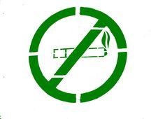 Free Green NO SMOKING Stock Image - 4206301