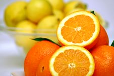 Free Slices Of Orange With Lemon Stock Photo - 4206480
