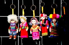 Free Chinese Dolls Key Rings Royalty Free Stock Images - 4207369