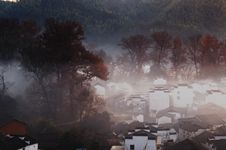 Free Village In The Morning Stock Photography - 4207402