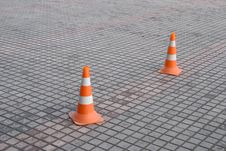 Free Highway Cones Royalty Free Stock Image - 4207466