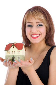 Free Business Woman Advertises Real Estate Stock Photography - 4207562