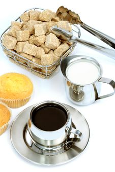 Free Cup Of Black Coffee With Sugar Royalty Free Stock Photo - 4207745