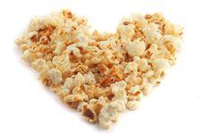 Free Popcorn Heart Stock Photography - 4207772