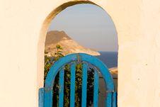 Free Blue Door Stock Image - 4207941