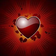 Free Glossy Valentine Hearth Royalty Free Stock Image - 4208196