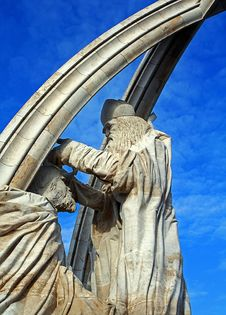 Statue Of The Priest And Ruller Stock Photography