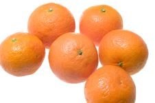 Mandarin On White Stock Photo