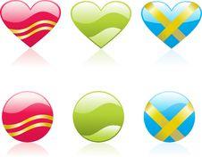 Free Hearts Icons Stock Image - 4209321