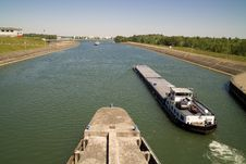Free Boat On Rhine Stock Photo - 4209970