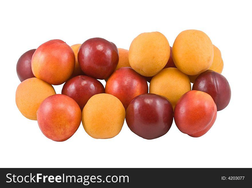 Apricot, plum, nectarine