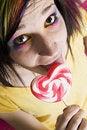 Free Alternative Girl With A Heart Lollipop Stock Photos - 4215773