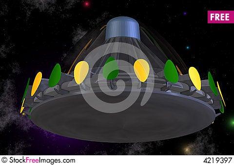 Free ufo cartoon style