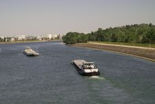 Free Boat On Rhine Stock Images - 4210014