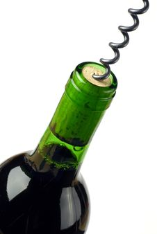 Free Wine Bottle Being Opened Royalty Free Stock Images - 4210369