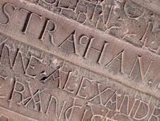 Free Historic Graffiti In Limestone Royalty Free Stock Photo - 4211205