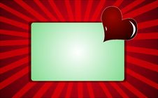 Free Love Card With Heart Royalty Free Stock Photo - 4211295