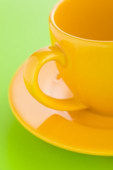 Yellow Coffee Cup Stock Photography