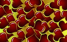 Free Background Made Of Hearts Stock Photo - 4211380