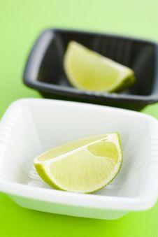 Lime Halves Stock Image