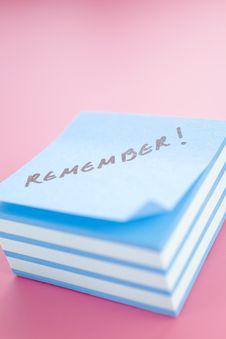 Free Sticky Notes Royalty Free Stock Image - 4212116