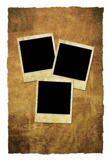 Free Grungy Instant Film Frames Royalty Free Stock Photography - 4212527