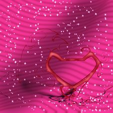 Free Pink Heart Valentine Background For Love Stock Images - 4213364