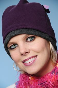 Beautiful Girl With Winter Hat Royalty Free Stock Images