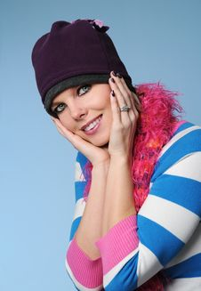 Beautiful Girl With Winter Hat Stock Photos