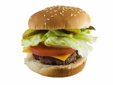 Free Cheeseburger Royalty Free Stock Photography - 4215867