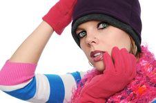 Free Portrait Of Beautiful Girl Stock Image - 4216111
