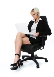 Free Businesswoman With Laptop Royalty Free Stock Image - 4216166