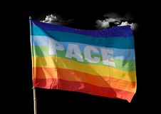 Free Peace Flag Royalty Free Stock Photography - 4216227