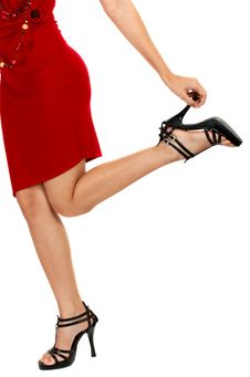 Free Waist Down Shot Of A Lady Stock Images - 4216564