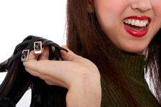 Free Girl In Red Lipstick Stock Photography - 4216662