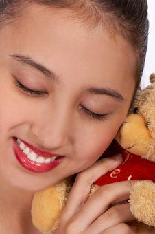 Free Lovely Girl Cuddling Stock Images - 4216694