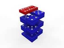Free Domino Steps Royalty Free Stock Images - 4217829
