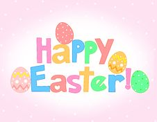 Free Happy Easter Greeting Card Stock Photo - 4218020