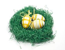 Free Easter Eggs In A Nest Royalty Free Stock Photo - 4218775