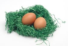 Free Easter Eggs In A Nest Stock Photo - 4218810