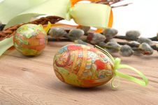 Free Easter Still-life With Eggs Royalty Free Stock Photo - 4219425
