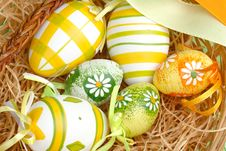 Free Easter Eggs In A Basket Royalty Free Stock Images - 4219499