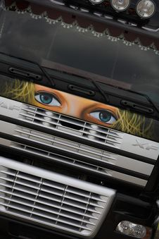 Truck Painting Royalty Free Stock Image