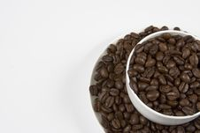 Coffe Cup Of Beans Royalty Free Stock Image