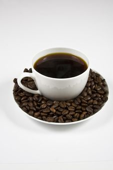 Free Coffe And Beans Stock Photo - 4219830