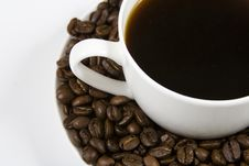 Free Coffe And Beans Stock Photo - 4219840